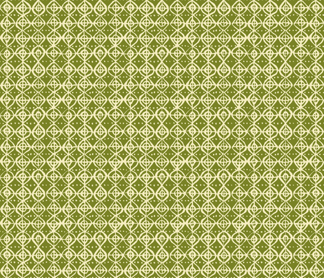 Roundabout - Moss & Vanilla fabric by jodiebarker on Spoonflower - custom fabric