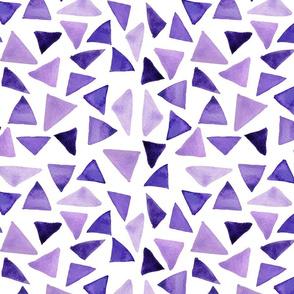 Purple watercolor triangles