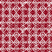 Roundabout - Crimson & White