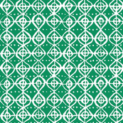 Roundabout - Emerald & White