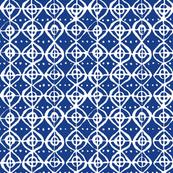 Roundabout - Royal Blue & White