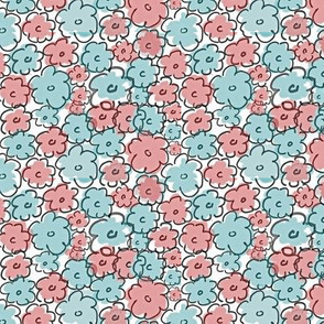 Retro abstract daisies