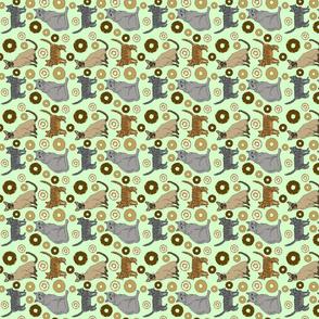 cats_green_dish_towel