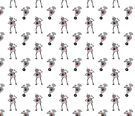 dancin' bots fabric by periwinklepaisley on Spoonflower - custom fabric