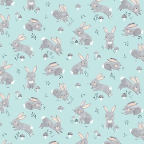 Bunny_pattern_tile_blue