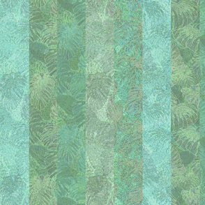 Jade Monstera Stripes 150