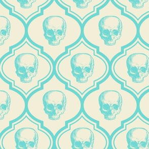 French skulls - bone & blue