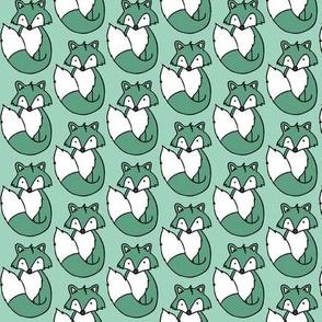 Fox // Mint background
