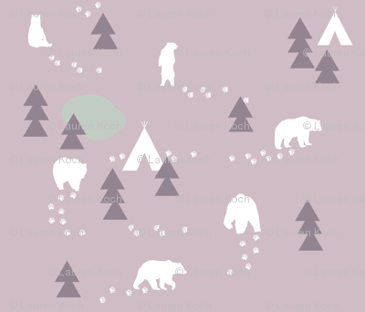 Bear Trail // lavender and lilac