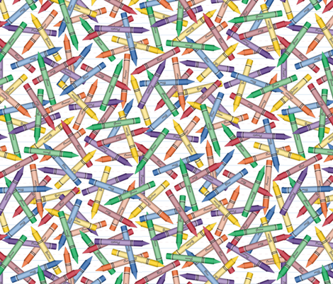 Crayon Scatter fabric by jjtrends on Spoonflower - custom fabric