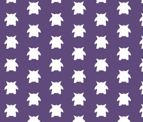 Gengar Repeatsie fabric by lowa84 on Spoonflower - custom fabric