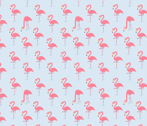 pink flamingos (1) fabric by analinea on Spoonflower - custom fabric