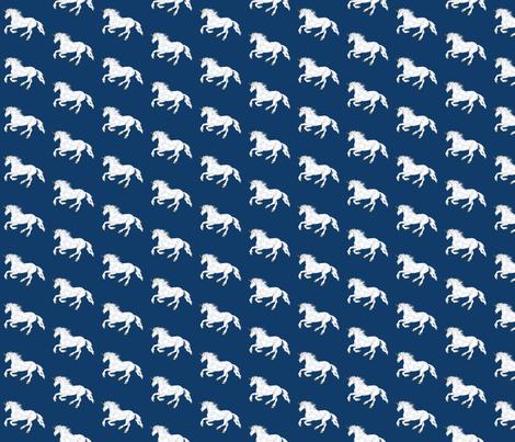 unicorn_blue_2x2 fabric by leroyj on Spoonflower - custom fabric