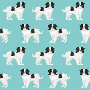 japanese chin  dog blue pet pets japanese chin dog fabric