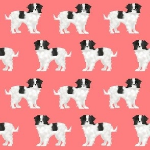 japanese chin salmon japanese dog dog fabric dog breed fabric