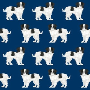 japanese chin dog breed fabric navy blue dog breed dogs fabric