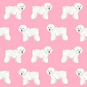 bichon frise pink dog fabric dog breed fabrics bichon fabric cute girls dog print