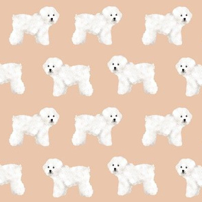 bichon frise sand tan bichon dog breed fabric dogs cute dog