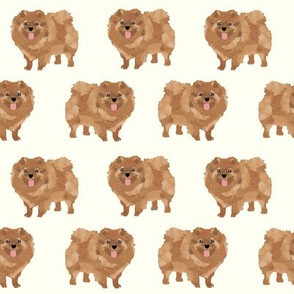 pomeranian cute dog pet dogs pom dog pomeranians dog fabric