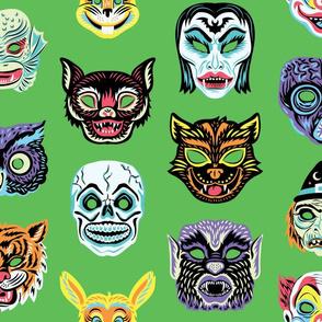 Halloween Masquerade in Green