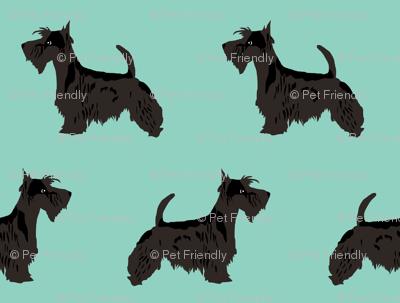 Scottie Dog Cute Scottish Terrier Mint Scottish Terrier