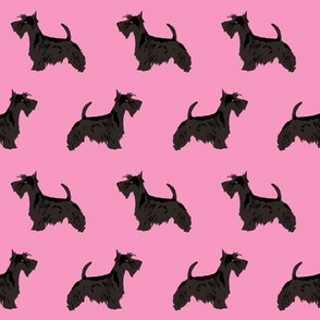 scottie dog pink cute scottish terrier fabric for scottie owners sweet scottie dog fabric