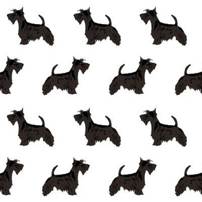 scottie dog cute scottish terrier dog fabric black and white scottie dog fabric