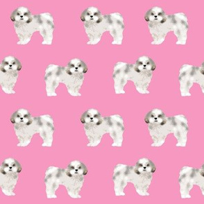 shih tzu fabric cute pink shih tzu dog coat sweet dogs pet dog adorable shih tzu