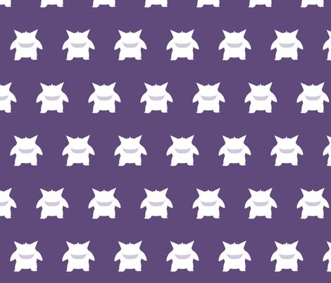 Gengar Repeatsie with Smile fabric by lowa84 on Spoonflower - custom fabric