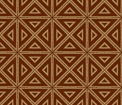 Raffia Parquetry ~ Mahogany  fabric by peacoquettedesigns on Spoonflower - custom fabric