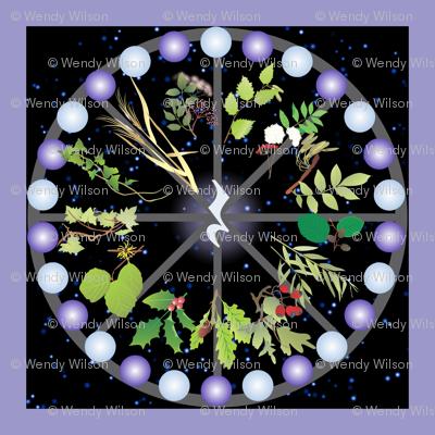 Celtic calendar for music fabric magicinyourlivingroom spoonflower for Redwood room live music schedule