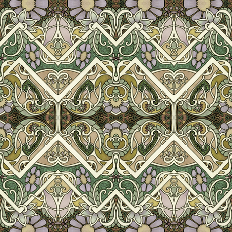 Dusty Old Victorian Stuff fabric by edsel2084 on Spoonflower - custom fabric