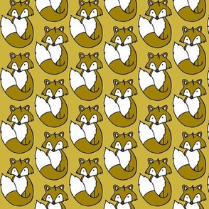 Fox // Mustard background