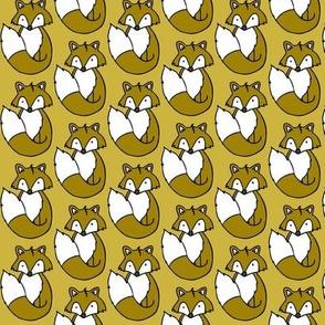 Fox // Mustard background