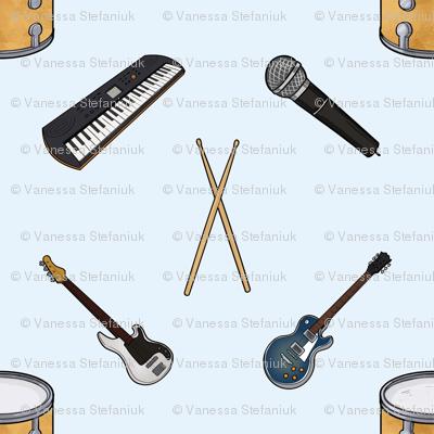 Rock band instruments