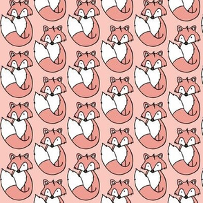 Fox // Pink background