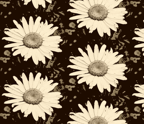 oh Daisy fabric by chiarandco on Spoonflower - custom fabric