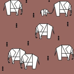 geometric elephants - potters clay burgundy ||by sunny afternoon