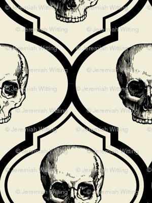 French Skulls - bone & black