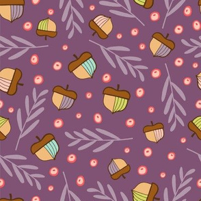 Acorns & Branches - purple