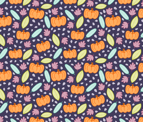 Pumpkins - purple fabric by jaymehennel on Spoonflower - custom fabric