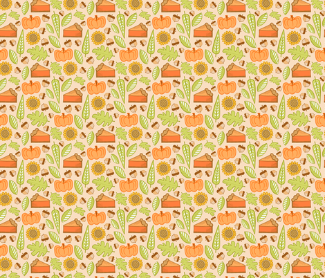 Pumpkin Pie fabric by jaymehennel on Spoonflower - custom fabric