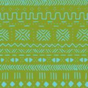 Green Blue Mudcloth