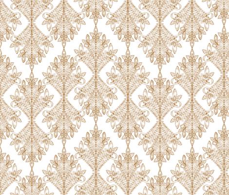 Marie Gold fabric by valerievalerie on Spoonflower - custom fabric