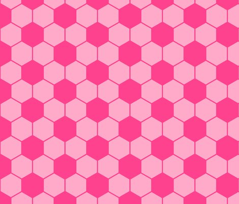 Soccer pink fabric by threadconnections on Spoonflower - custom fabric