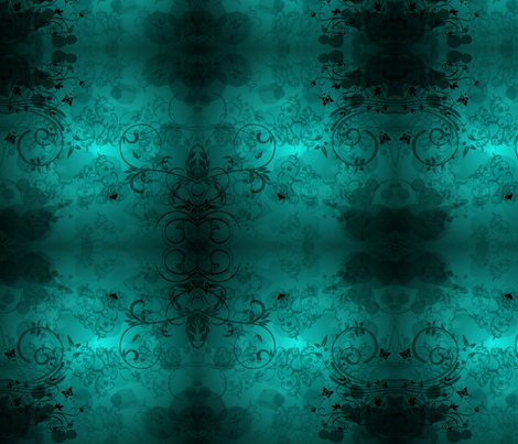 Ink Blot Teal fabric by floramoon on Spoonflower - custom fabric