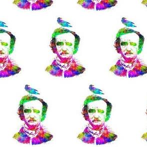 Poe Raven Rainbow Portrait