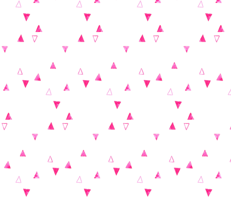 Pink Watercolor Triangles fabric by taraput on Spoonflower - custom fabric
