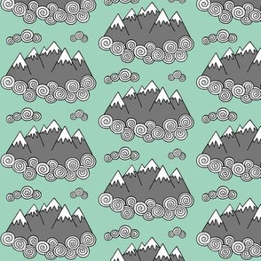 Mountains // Mint background