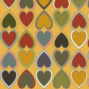 October - Double Hearts on Gold